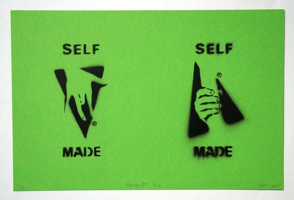 "Ostap: ""Selfmade - 2 in 1 - Green"" - Handmade Stencil - SALZIG Berlin"