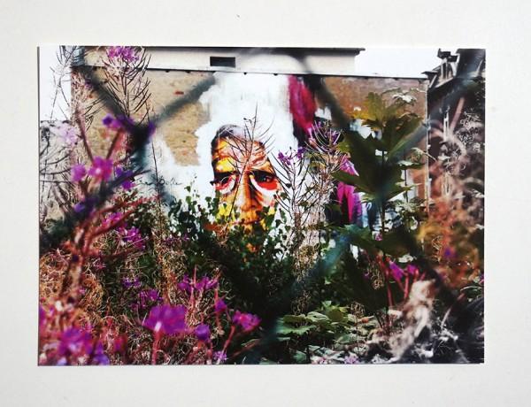 "FLOCKE//ART: ""Conta Man - Fence"" - Postkarte A6"