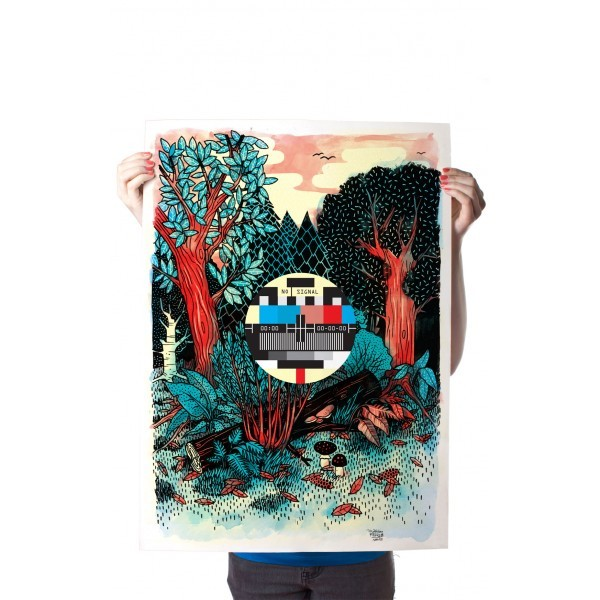 """Yack Fou: """"Forest"""" - Poster A2"""