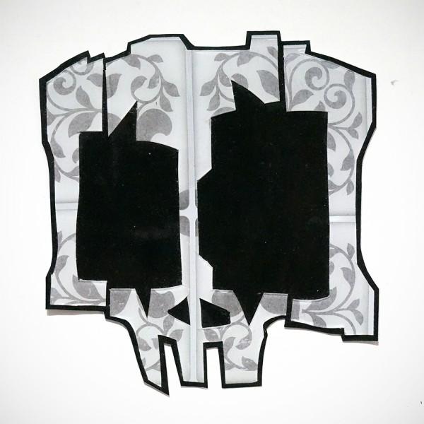 Wudywood: Grey Skull - Handmade Sticker