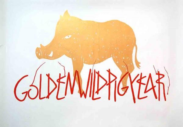 """SP 38: """"Golden Wild Pig Year"""" - Sticker"""