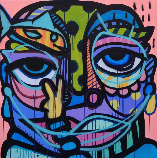 Bona: Square Face II - salzig berlin, streetart galerie