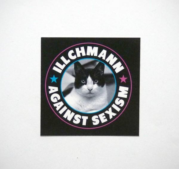 Illchmann Sticker: Against Sexism - Aufkleber aus Berlin - Streetart Galerie SALZIG