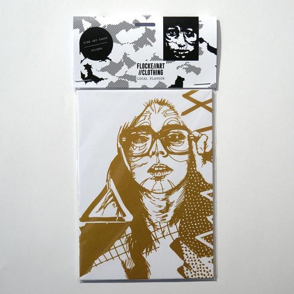 "FLOCKE//ART: ""Fine Art Postcard and Sticker Set 1"" - salzigberlin"