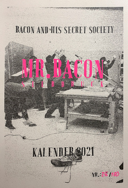 Bacon and his secret society - Siebdruck Kalender 2021 - available at SALZIG Berlin