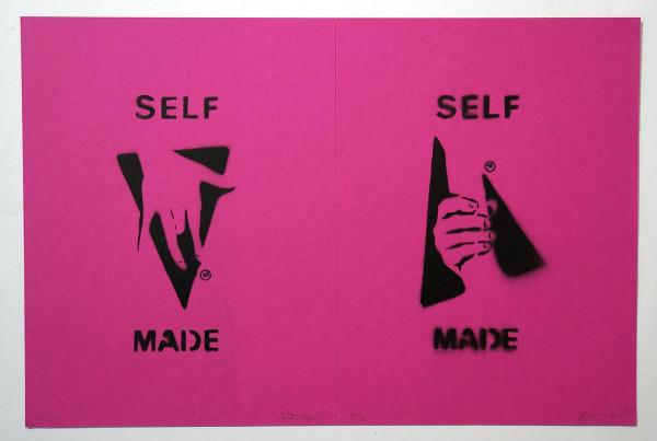 "Ostap: ""Selfmade - 2 in 1 - Fuchsia"" - Handmade Stencil - SALZIG Berlin"