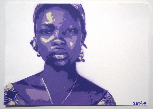 "Zon: ""Si et fa mal no és amor"" - 4 Layer Stencil on Paper"