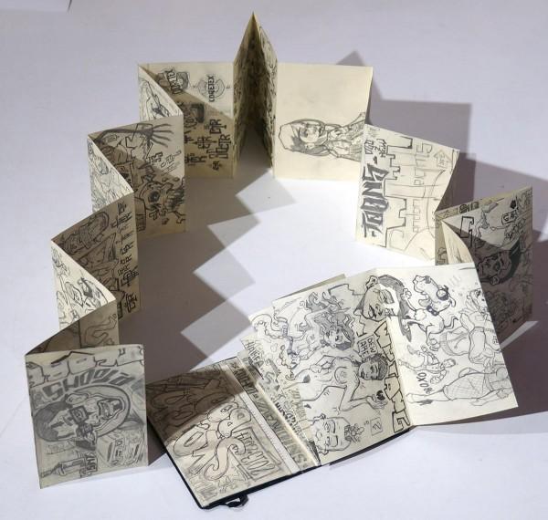 """p-toons: """"Subway Sketches 3 - Sketchbook""""  - pencil drawings on paper - salzigberlin"""