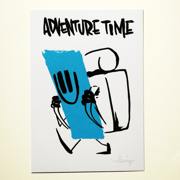 """Dave the Chimp: """"Adventure Time"""" Postcards from Life -SALZIG Berlin"""