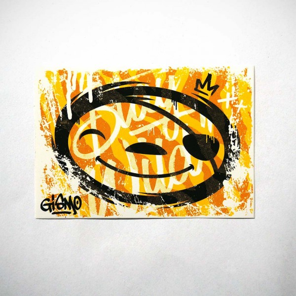 "Gismo: ""Yellow Slothy"" - Sticker - 10,4 x 7,3cms at SALZIG-Berlin"
