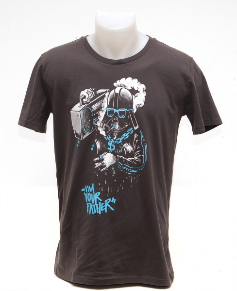 Yackfou - Darth Gangster T-Shirt auf Grau