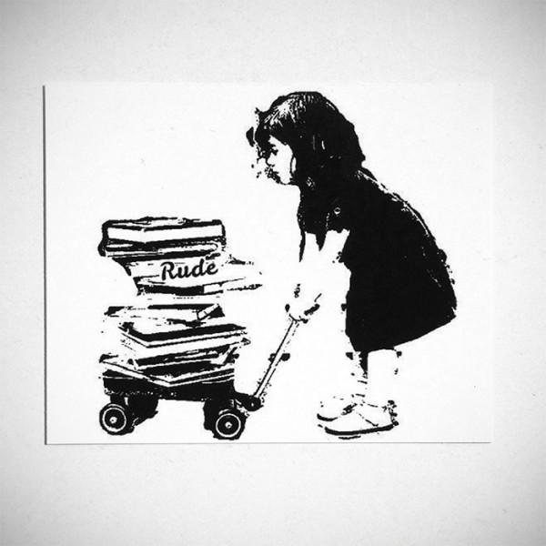 """Rude: """"Schoolgirl"""" Sticker"""