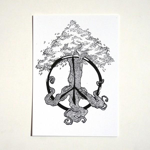 """ROLF LE ROLFE: """"Peace Tree"""" - Postkarte A6"""