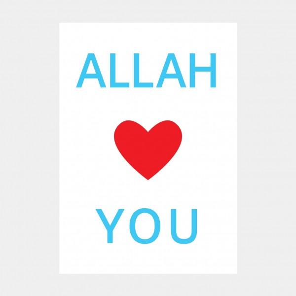 """Oliver O. Rednitz: """"Allah Loves You""""  - DINA2, 42 x 59,4 cm"""