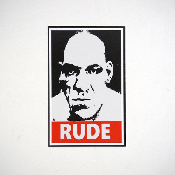 Rude Schwarz-Rot - Sticker