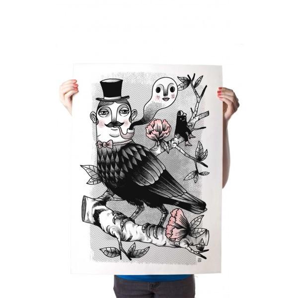 Yack Fou: Corbus Gentleman- Poster A2