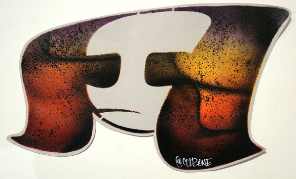 """Colp One: """"Adelita"""" - Stencil on paper"""