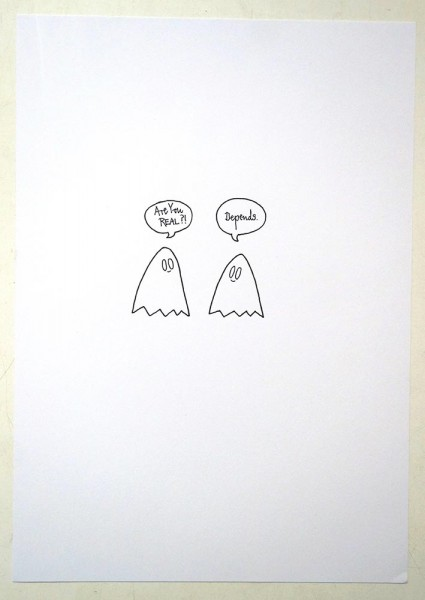 "Rabea Senftenberg: ""Are you real?""  - Marker and fun on paper, a piece of Berlin"