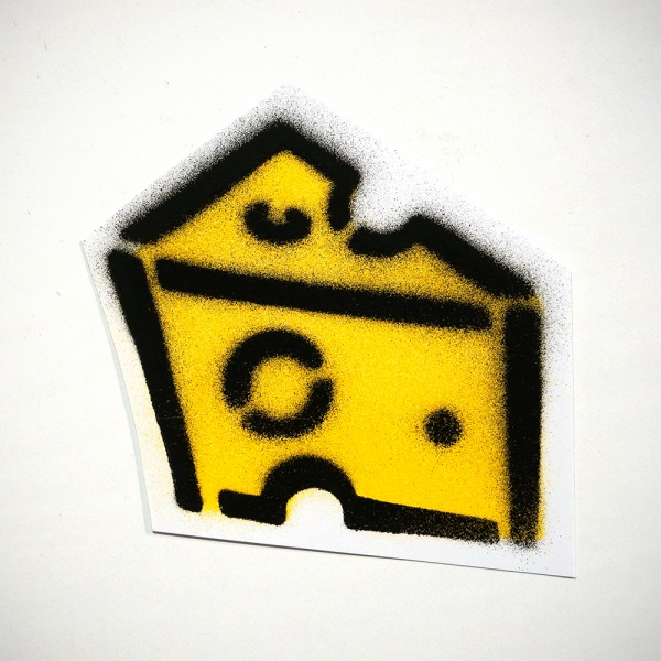 Cheez - Stencil - Sticker Small