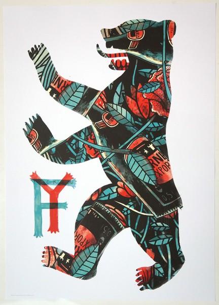 """YackFou: """"Bearlin"""" - Poster A2"""