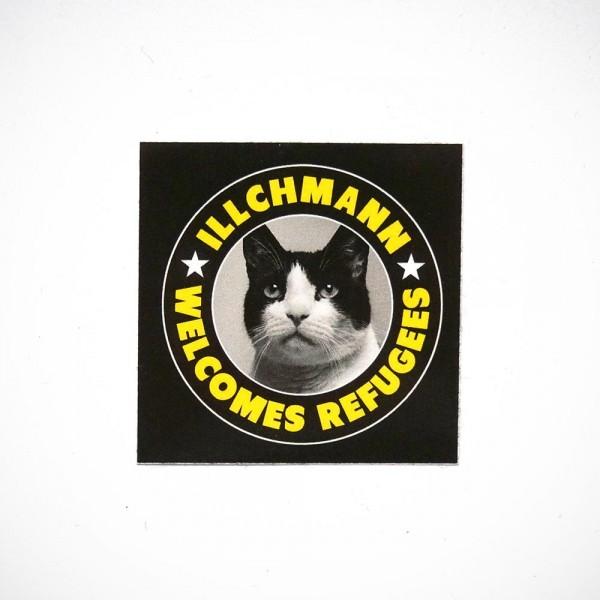 Illchmann: Welcomes Refugees - salzig berlin - sticker
