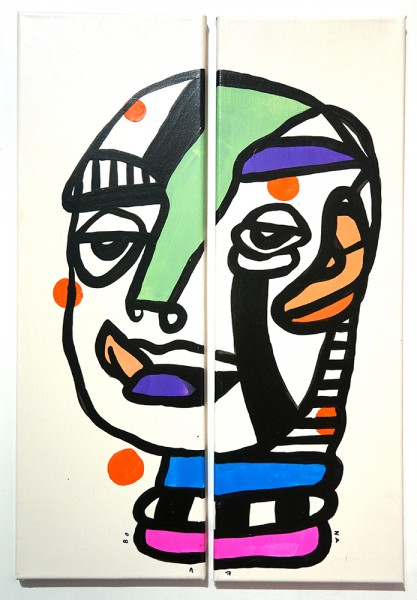 "Bona Berlin: ""Double Face III""  - all colors are beautiful <3"