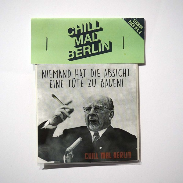"Chill mal Berlin: ""Stickerpack"" - SALZIG Berlin"