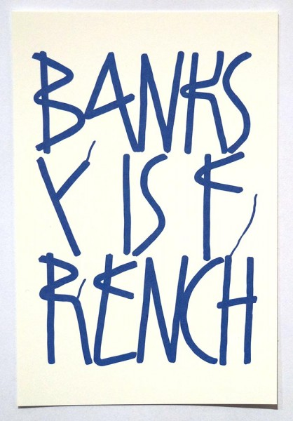 "SP 38: ""Banksy Is French"" - Paper Postcard 2019"