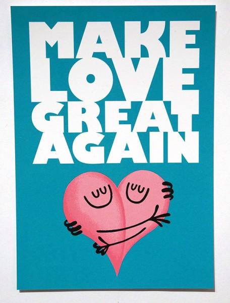 "Dave the Chimp: ""Make Love Great Again""  - Postcard"