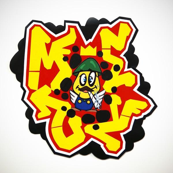 "Mesy: ""Eggman""  Sticker Handcut"
