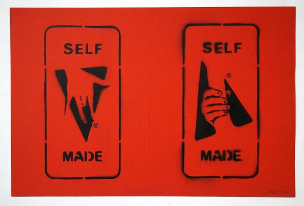 "Ostap: ""Selfmade - 2 in 1 - Red"" - Handmade Stencil - SALZIG Berlin"