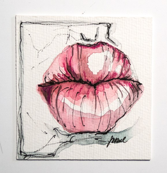 "Susanne Wilke: ""Kiss the world, it needs it!"" - Franzi - Aquarell"