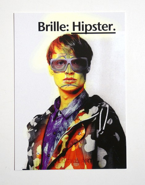 "FLOCKE//ART: ""Brille: Hipster"" - Postkarte A6"