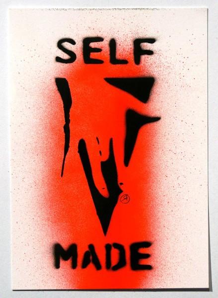 "Ostap: ""Selfmade - Red"" - Handmade Stencil - SALZIGBerlin"