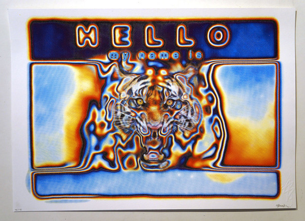 """SNYDER: """"HELLO my name is"""" - Hand pulled silk screen print - salzigberlin"""