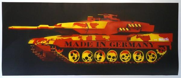 Marycula: German Tank - Stencil - 4 layers on black paper
