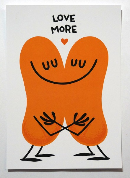 "Dave the Chimp: ""Love More""  - Postcard"