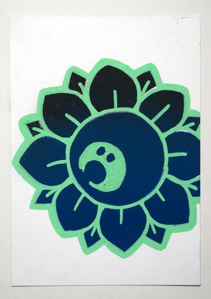 Bujangan: Flower - Turquoise