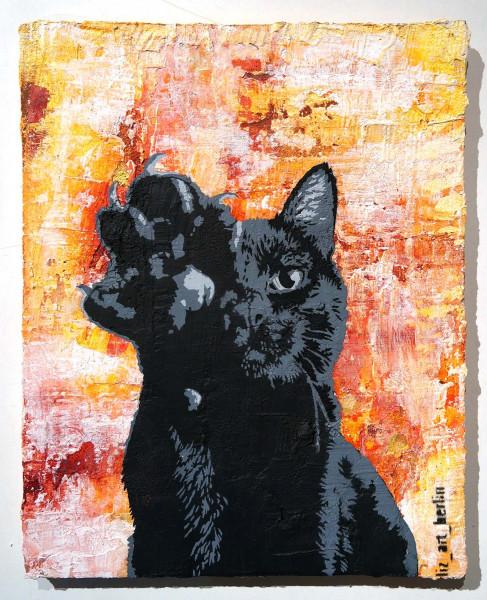 "Liz_Art_Berlin and Steinhäute: ""Chat Noir"" - SALZIGBerlin Streetart Gallery - Stencil"