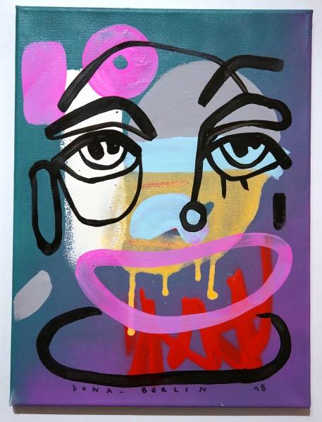 Bona Berlin: Face I - mixed media on canvas
