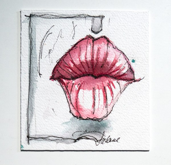 "Susanne Wilke: ""Kiss the world, it needs it!"" - Ariel - Aquarell"