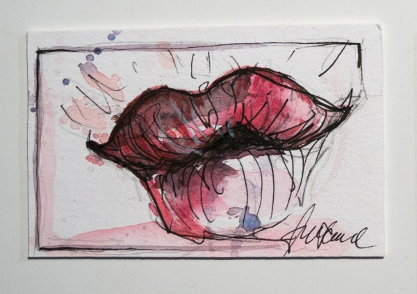 "Susanne Wilke: ""Kiss the world, it needs it!"" - Sofia - Aquarell"