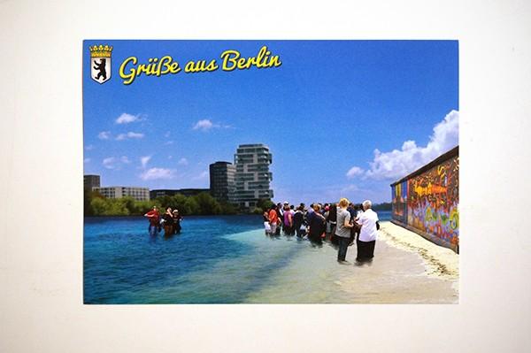 """Mein lieber Prost: """"Die Mauer """" - Postkarte + Sticker A6"""