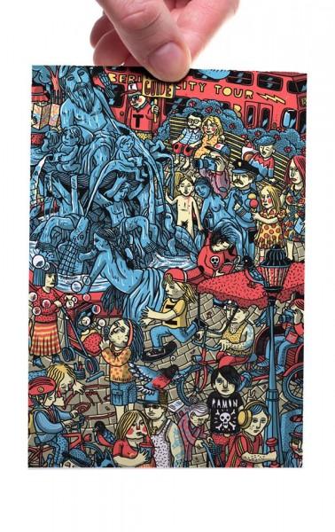 Alexanderplatz Neptunbrunnen - Postkarte A6
