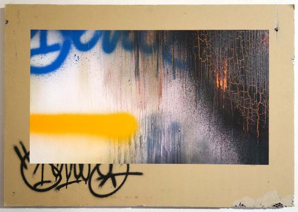 "Señor Schnu: ""A Glimpse of Hop"" - mixed media on cardboard - SALZIG Berlin"