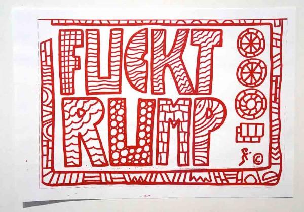 SP 38: FUCKTRUMP - Red - Sticker