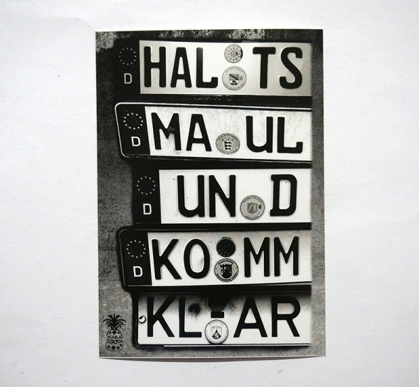"MaraCooya: ""Halts Maul Und Komm Klar""  - Sticker - 5 x 7,2 cm - SALZIGberlin"