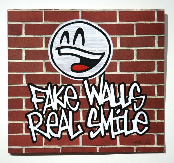 "Mein lieber Prost: ""Fake Walls Real Smile""  - buy at SALZIGBerlin"