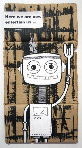 "Rabea Senftenberg: ""Here We Are Now Entertain Us""  - Marker and fun on Cardboard, a piece of Berlin"
