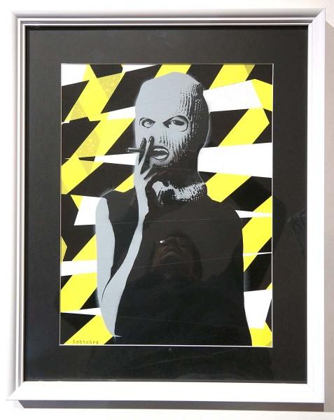 "Lchtnbrg: ""Smoke"" - 2 layer Stencil - framed - salzigberlin"